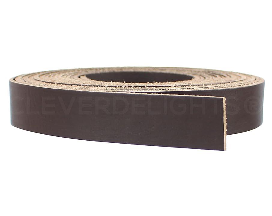 CleverDelights Premium Cowhide Leather Strap - Dark Brown - 1