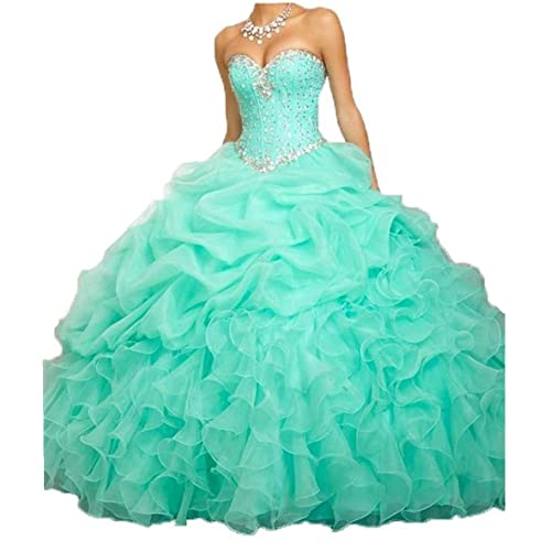 c321351b803 ANGELA Women s Ball Gown Organza Quinceanera Dresses Prom Gowns