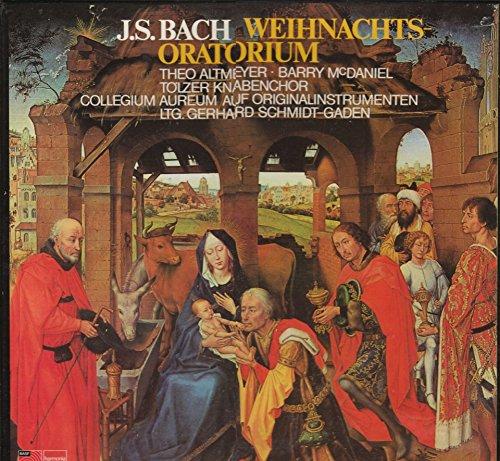 J. S. Bach Weihnachts-Oratorium LP-Box mit Booklett. Theo Altmeyer - Barry McDaniel, Tölzer Knabenchor, Collegium Areum auf Originalinstrumenten, Leitung Gerhard Schmidt-Gaden