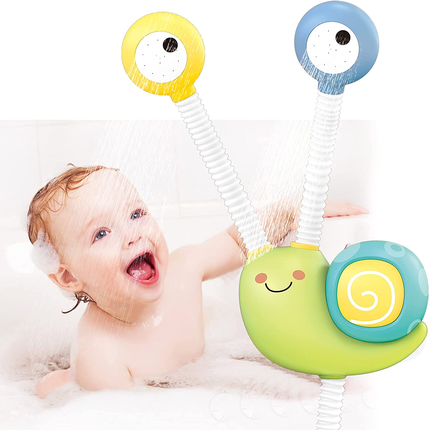 Happytime Baby Max 60% OFF Bath outlet Toys for Electric Doubl Toddlers Shower Head