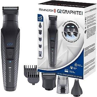 Remington G2 Multigroomingkit, grafitbelagda & självslipande blad, 40min användningstid, inkl. trimmer för hår & skägg, nä...