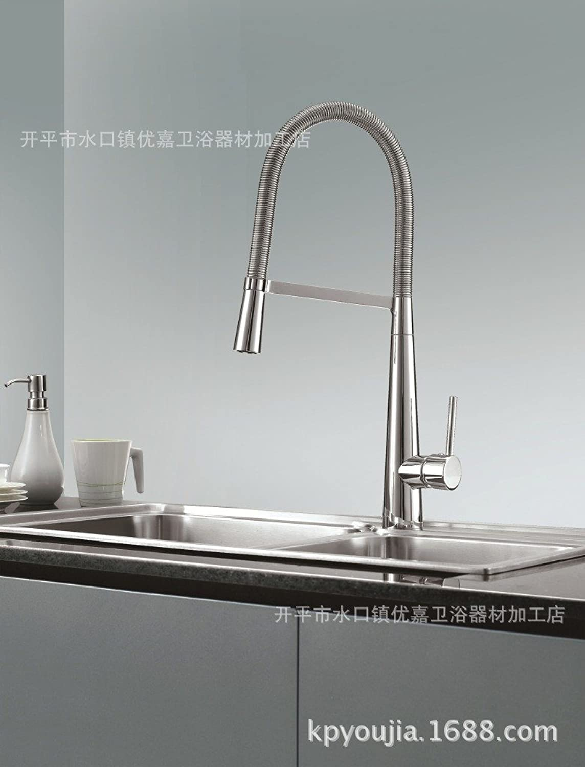 JIAHENGY Sink Mixer Faucet tap European style retro art Brushed NickelBasin Glass Spout WaterfallFaucet Toilet Kitchen bathroom