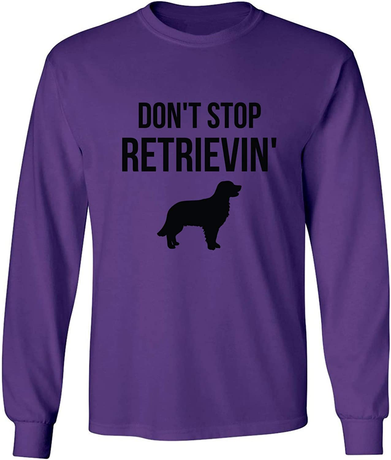 Don't Stop Retrievin' Adult Long Sleeve T-Shirt in Purple - XXX-Large