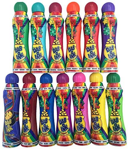 Dab-O-Ink 3oz Bingo Daubers - Mixed Colors - 24ct (13 Colors)