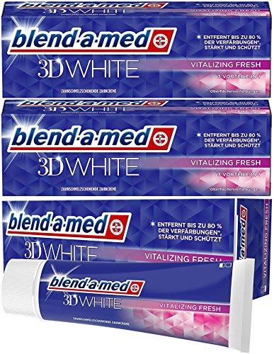 Blend-a-med 3DWhite Vitalisierende Frische (Vitalizing Fresh) Zahnpasta 75 ml (3 x)