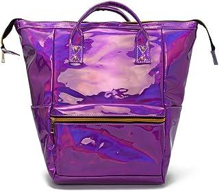CYBERNOVA Fashion Laser PU Leather Backpack Holographic Rucksack Bling Glitter Casual Daypack, Laptop Bag, Shoulder School...