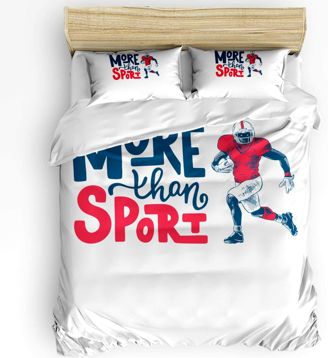 PartyShow 4 Piece Bed Trust Sets service Rugby Sport Twin Bedroom Comforters