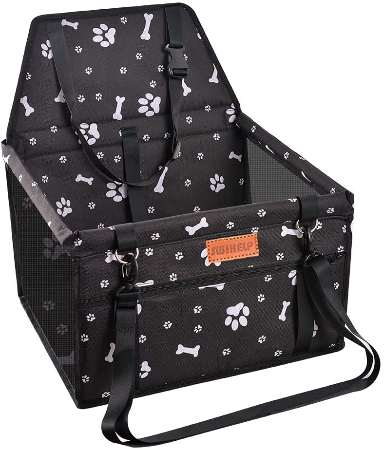 24. Pet Car Booster Seat Travel Carrier Cage