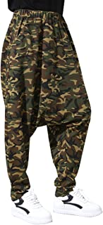 Women Casual Elastic Waist Camouflage Drop Crotch Pants Baggy Pants GY1230 A