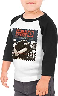 Black6Red Public Enemy Most of My Heroes Still Don't Appear On No Stamp Children's 3/4 Sleeve T-Shirt