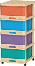 Cosmoplast 4 Drawer Storage Cabinet - Ivory