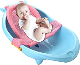 Synthiiz Bathtub Sling, Newborn Baby Bath Seat Support Net for Sit-up Bathing, Premium Bathtub Sling Shower Mesh Bathing Cradle Rings for Tub