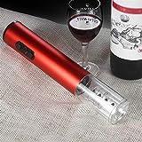 JSJJAOL Sacacorchos Cortescorios de Vino eléctrico automático Corkscrew Removedor de aleación de Aluminio Botella de Vino Kit de abridor de lámina Cutter Set Bar Accesorios (Color : Blue)