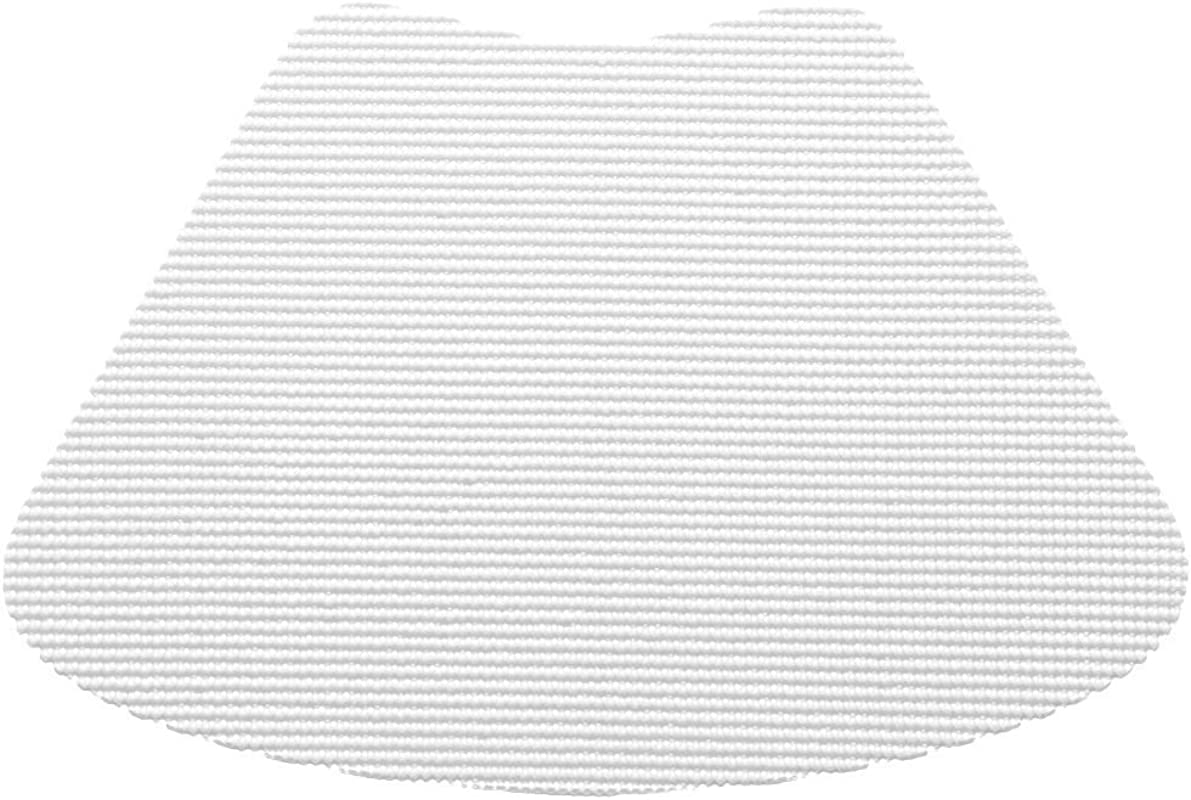 12 Piece White Fishnet Placemat Traditional Style Lace Material Solid Pattern Wedge Shape Machine Washable Perfect For Everyday Fade Resistant And Durable Off White