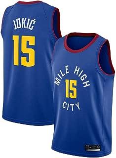Hombre Mujer Ropa de Baloncesto NBA Denver Nuggets 15# Jokic Jersey Camiseta de Baloncesto da Bordado