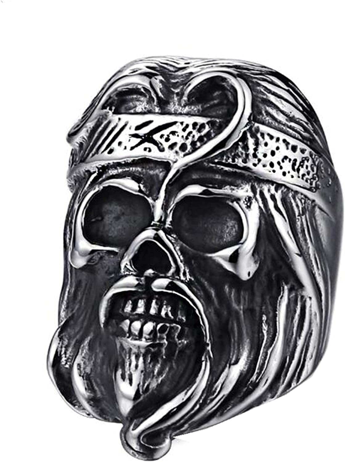 Stainless Steel Gifts Vintage Skeleton Skull OFFicial mail order Rock Ring Jewellery Punk