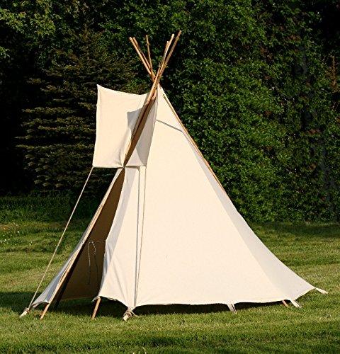 Zelte-Max Kinder Tipi Wigwam Kinderzelt Indianer Spielzelt Zelt komplett mit Holz Stangen