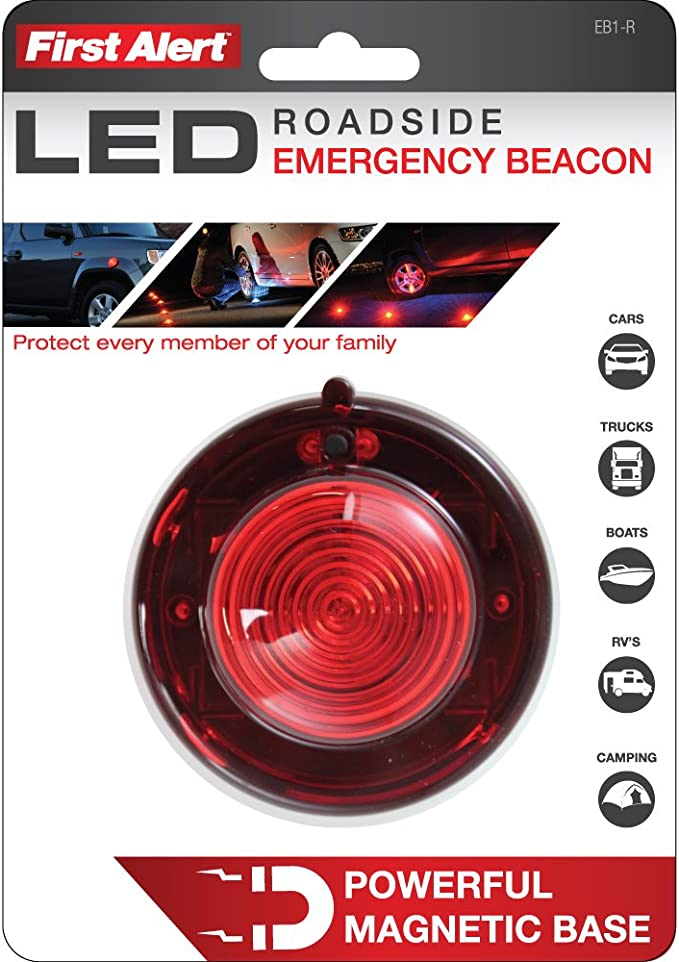 Capstone Flash White Front-Red Led R-Battery