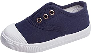 Van Caro Toddler Kids Girls Lightweight Slip-On Canvas Sneakers Casual Shallow Shoes