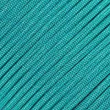 West Coast Paracord Type III 500 Premium Paracord in 100 Foot Lengths - Made of Nylon - 7 Inner Strands - Camping and Survival (Neon Turquoise)