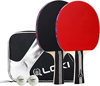 Suyisy Table Tennis Set Includes 2 Rackets and 3 Star Professional Ping Pong Balls for Training