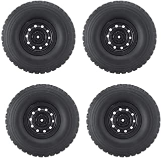 HONG YI-HAT Rc Car Wheel Applicable To Wpl C34 1/16 4Wd for JJRC Mn Buggy Crawler Off Road 2Ch Models スペアパーツ (Color : Black)