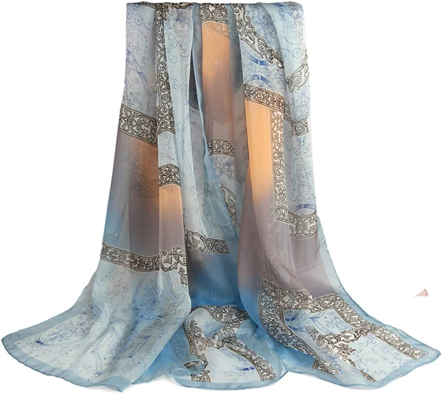 LXYFMS Shawl Silk Silk Lady Beach Scarf Women's Scarf (color   C)