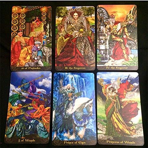 Tarot Illuminati Kit Tarjetas 78 | Combinando Belleza Artística, Profundidad Simbólica Y Vigor Intuitivo, Los Tarot Illuminati Calientan El Alma Y Liberan La Mente, Una Búsqueda Profunda