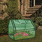 SGHB Solid Wood Raised Garden Bed with Greenhouse Planters Box for Vegetables Flower Fruits Herb Outdoor (Green Round) 14 The greenhouse of this combination is composed of PE cover and anti-rust sprayed steel tube. The garden bed is made of well-polished fir wood without painting. These high-quality materials extend its service time. Four-sided tie are used to fix the cover with each poles. All-round edging increases durability while beautifying the appearance. The steel frame can be quickly installed by plastic connectors. There are 5 wooden strips to divide the space, can be easily installed and removed. Supports growing multiple plants at the same time, improve the utilization of space and convenient for you to manage flowers and plants.