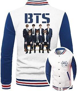 Jaqueta College Masculina Branca Kpop BTS Bangtan Boys ES_173