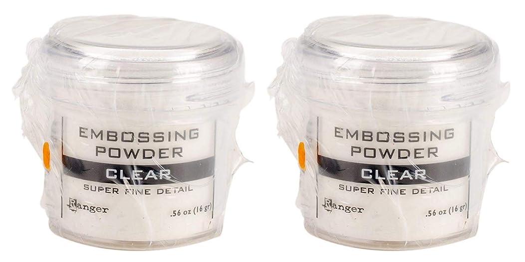 Ranger Embossing Powder, 0.56 Ounce Jar, Super Fine Clear (2 Pack)