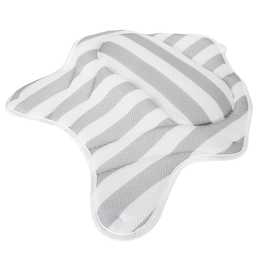 Bathtub Pillow 6 Colorado Springs Mall Suction Cups Body Curve Long-awaited Quick Bath Pill Drying