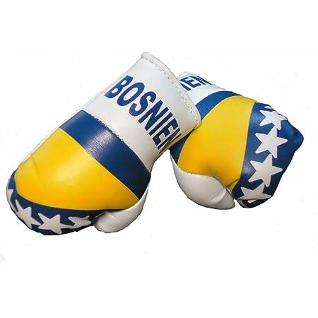 Sportfanshop24 Mini Boxhandschuhe Bosnien Herzegowina 1 Paar 2 Stück Miniboxhandschuhe Z B Für Auto Innenspiegel Auto