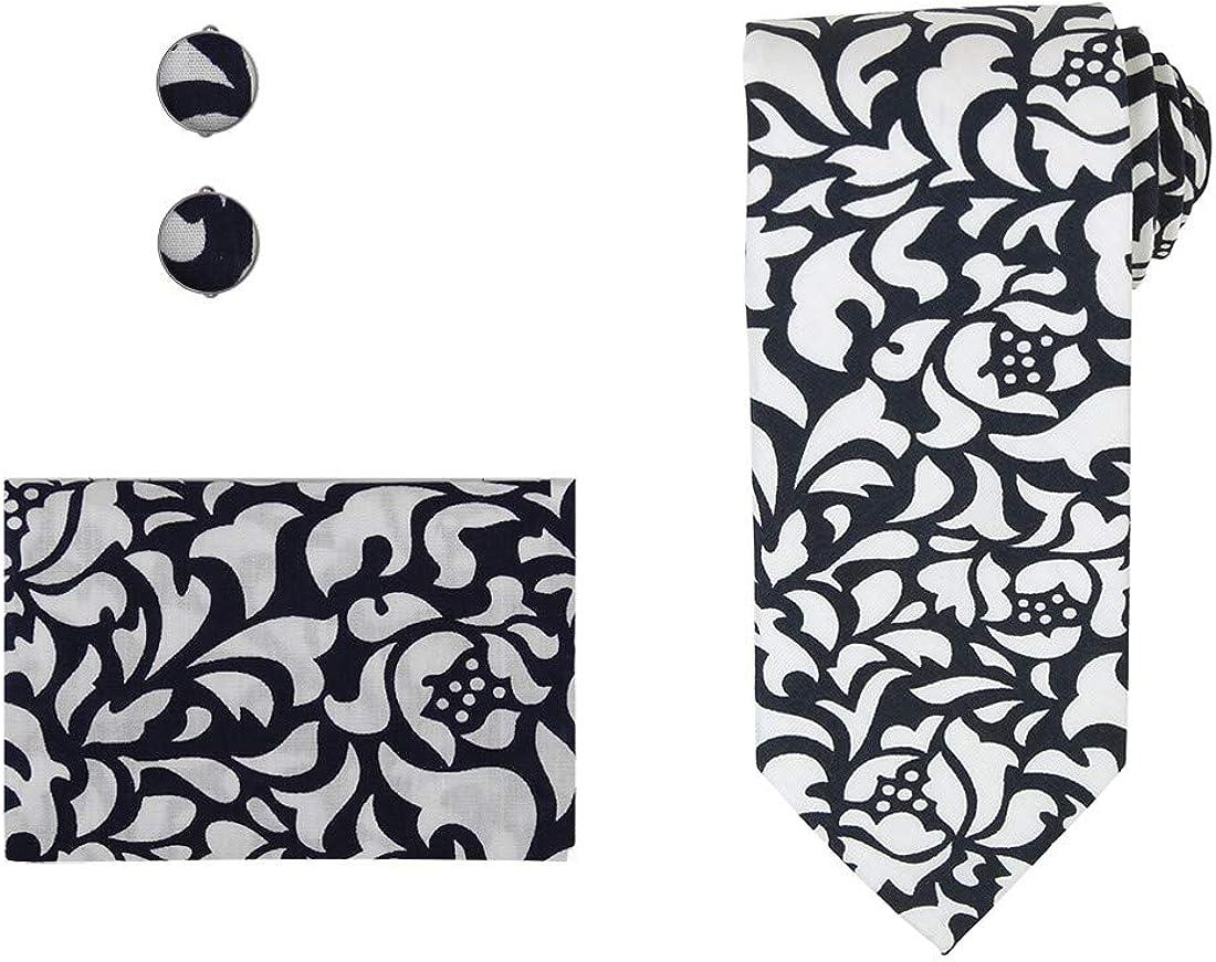 Dan Ranking TOP7 Smith Men's Fashion Cotton Portland Mall with Necktie Box Hanky Cufflinks