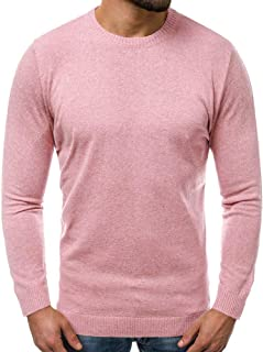 ZXFHZS Mens Casual Jumper Thicken Knit Slim Pullover Mock Neck Sweaters