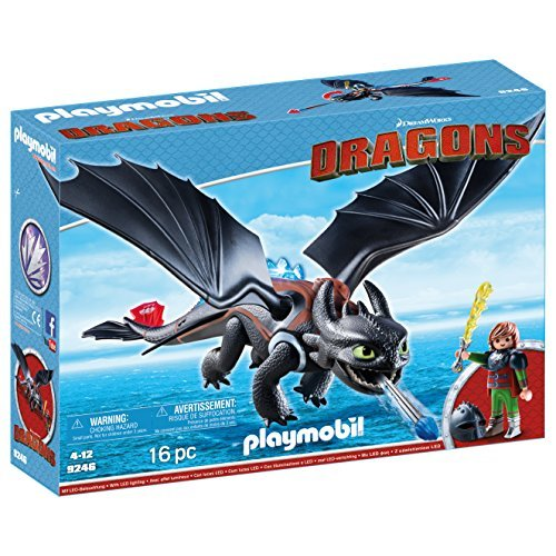 Playmobil- Hiccup & Toothless Figura con Accesorios, (9246)