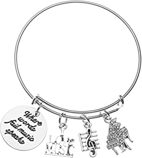 Infinity Collection Piano Charm Bracelet - Music Jewelry - W