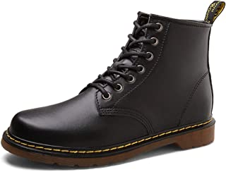 Men's Heightening 8cm Boots Casual High Top Shoes Black Oxfords