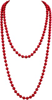 Best long red pearl necklace Reviews