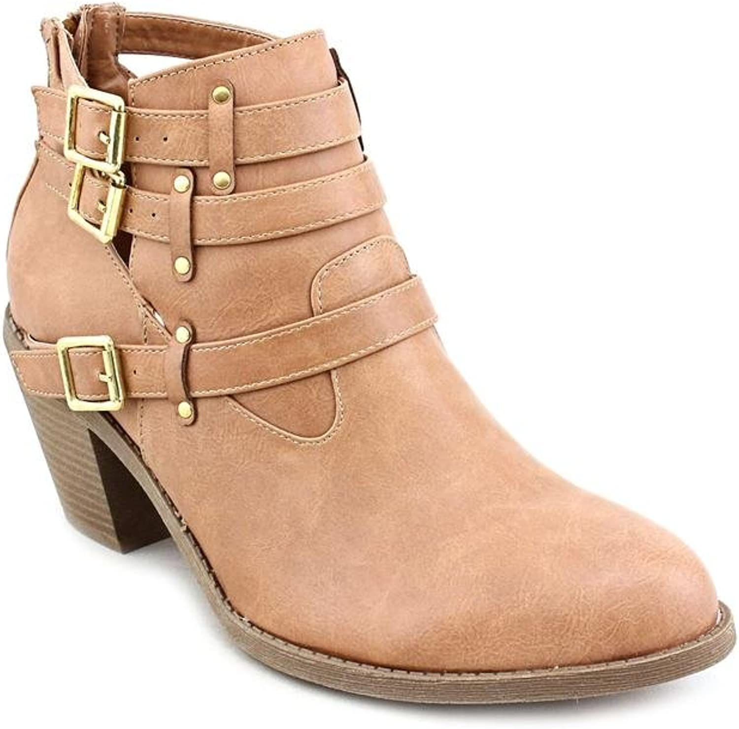 Madden Girl Gossip Womens 6 Brown Faux Leather Fashion Ankle Boots New Display