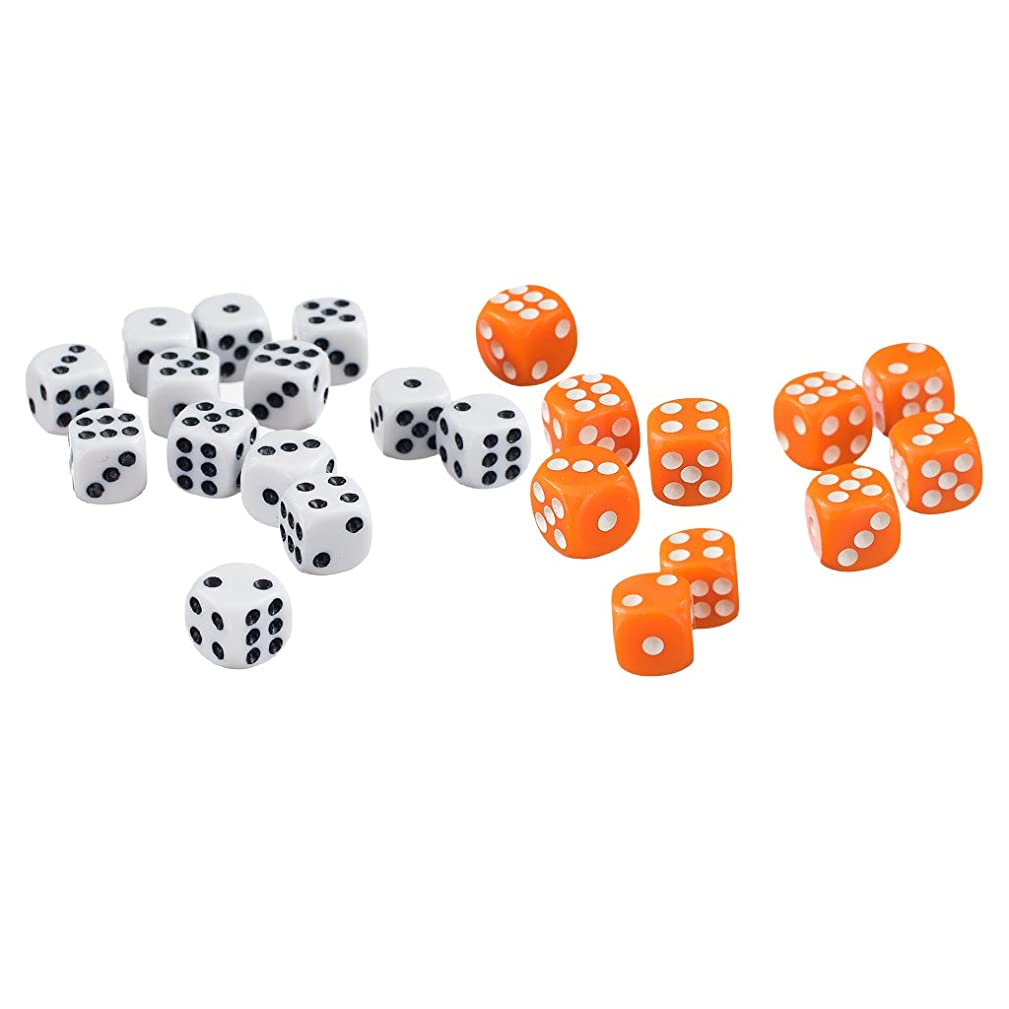 SM SunniMix 100x Opaque D6 Dice Acrylic for Dungeons &Dragons DND Dice Casino Games Toys