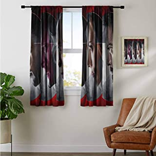 ZhiHdecor Customized Curtains Captain America Civil war Image Indo Treatments for Short Indo