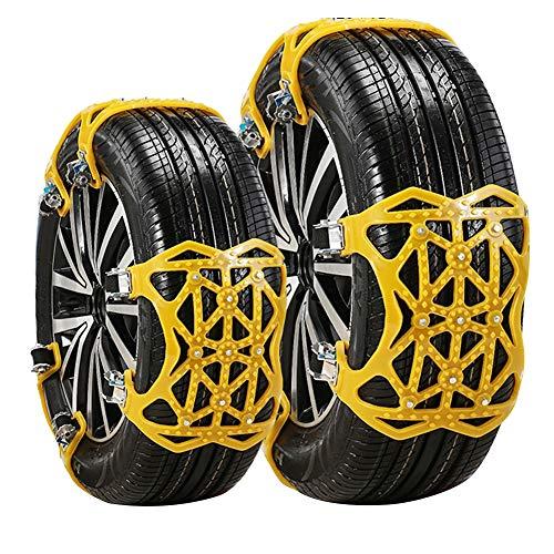 """DINOKA Cadena de Nieve, 6er Universal Cadenas Coche Antideslizante de Neumático de Nieve Chains parala Mayoría deAutomóvil/SUV/Camión Ancho del Neumático 165mm-265mmm / 7""""-11"""""""