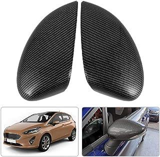yanana 1 Paio Specchio retrovisore Covers Tappi di Ricambio per Ford Fiesta 2009-2015 1.594.546 1.594.522 8A6117K747CA 8A6117K746CA