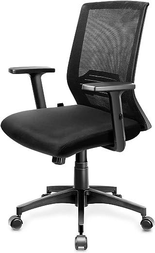 Bürostuhl Ergonomischer Schreibtischstuhl Atmungsaktiver Drehstuhl mit Verstellbaren Armlehnen, Wippfunktion bis 30° Computerstuhl Netz Stuhl…