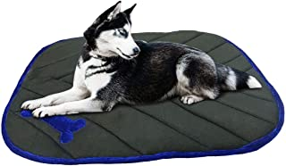 Mellifluous Large Size Dog and Cat Reversible Pet Bed, Brown-Black (Small, Black-Blue)
