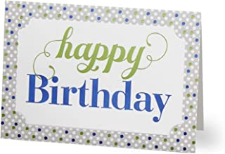 Hallmark Business Birthday Cards for Customers (Polka Dot Wishes) (Pack of 25 Greeting Cards)