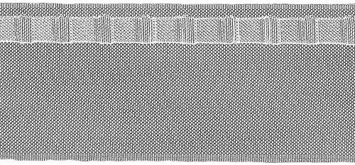 Ruther & Einenkel zakband voor Wave-systemen (golfdecoraties) met zakmarkering, 75 mm/verpakking 10 m, polyester, halftransparant, 1000 x 7,5 x 0,1 cm