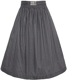 Mia san Tracht. Damen Dirndl-Schürze 65cm mit Broschen-Schließe Anthrazit, 9312/64-ANTHRAZIT/ANTIK, S