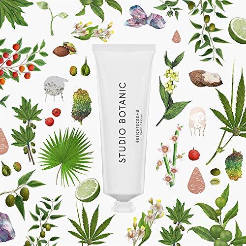 Studio Botanic Gesichtcreme – für Tag und Nacht – 50 ml Alutube – 100% Rein Natürlich – Zertifizierte Vegane Naturkosmetik